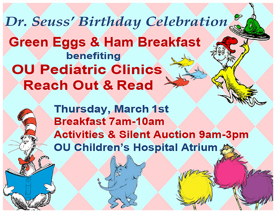 Reach Out and Read Green Eggs and Ham Breakfast